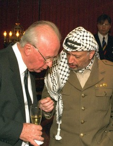 Yasser Arafat and Yitzhak Rabin Talk Peace